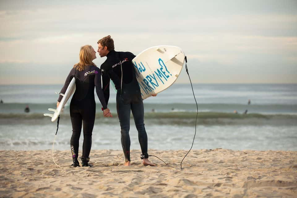 Surfing Marriage Proposal Ideas